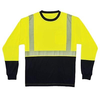 GloWear® 8281BK Type R Class 2 Black Front Performance Long Sleeve T-Shirt, 4XL, 1 pack (22638)