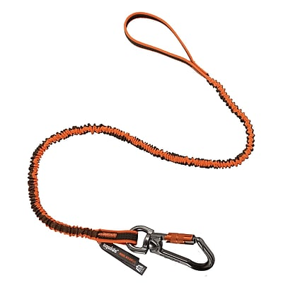 Squids® 3109F(x) Double-Locking Single Carabiner Tool Lanyard with Swivel - 25lbs, Standard (19809)