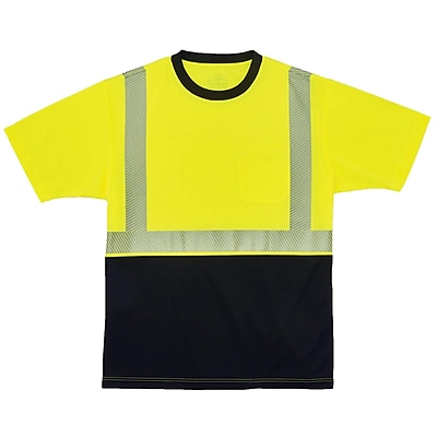 GloWear® 8280BK Type R Class 2 Black Front Performance T-Shirt, 5XL, 1 pack (22539)