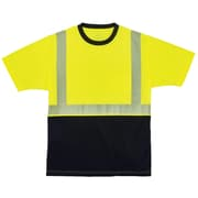 GloWear® 8280BK Type R Class 2 Black Front Performance T-Shirt, L, 1 pack (22534)