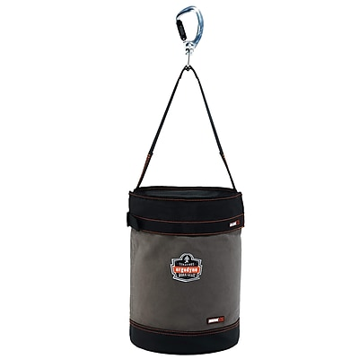 Arsenal® 5940T Swiveling Carabiner Canvas Hoist Bucket with Top, L, 1 pack (14840)