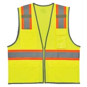 GloWear® 8246Z Type R Class 2 Two-Tone Mesh Vest w/ Reflective Binding, S/M, 1 pack (24143)