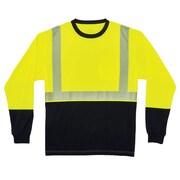 GloWear® 8281BK Type R Class 2 Black Front Performance Long Sleeve T-Shirt, S, 1 pack (22632)