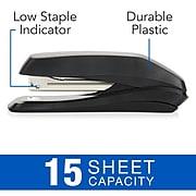 Swingline® Standard Desktop Stapler, Eco Version, 15 Sheet Capacity, Black (54501)