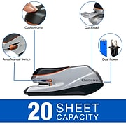 Swingline Optima Grip Electric Stapler, 20 Sheet Capacity, Silver (48207)