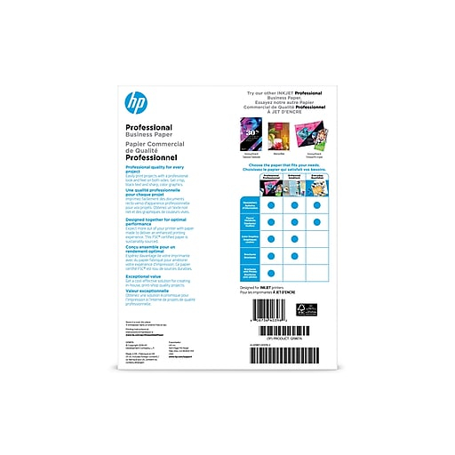 HP Professional Business Inkjet Glossy Paper, 8 5