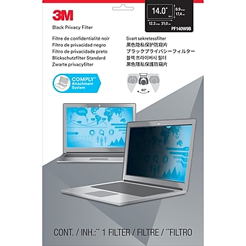 """3M™ Privacy Filter for 14"""" Widescreen Laptop (16:9) with COMPLY Attachment System (PF140W9B)"""