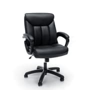 Essentials by OFM Leather Executive Office Chair with Arms, Black (ESS-6020-BLK)