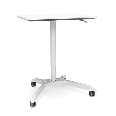 OFM Mesa Series Height Adjustable Mobile Podium, White (66100-WHT)