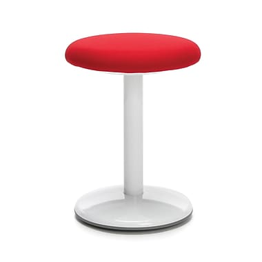 OFM Orbit Curved-based Active Stool 18 Inch High - Fabric Red (2818-ATV-RED)