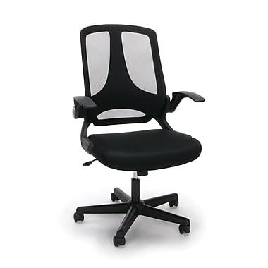 Essentials by OFM Mesh Upholstered Flip-Arm Task Chair, Black (ESS-3045)