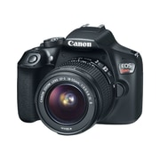 Canon® EOS Rebel T6 EF-S IS II Lens 18 MP DSLR Camera Kit, 3.1x Optical Zoom, 18 - 55 mm Focal Length (REBELT6KITBKSTA)