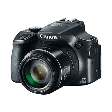 Canon® PowerShot SX60 HS 16.1 MP Long Zoom Digital Camera, 65x Optical Zoom, 3.8 - 247 mm Focal Length, Black