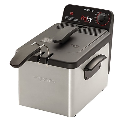 Presto® ProFry™ 3.2 qt Immersion Element Deep Fryer, Black/Silver (5461)