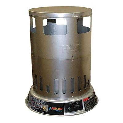 World Marketing Propane Convection Trash Can Heater, Silver (LPC80)