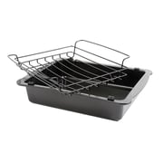 Gibson Oster Strathdon Roaster and Wire Rack, Black (81046.02)