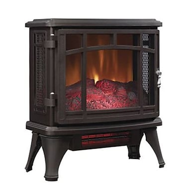 Duraflame® 1500 W Freestanding Infrared Quartz Fireplace Stove with Remote Control, Bronze (DFI851102)
