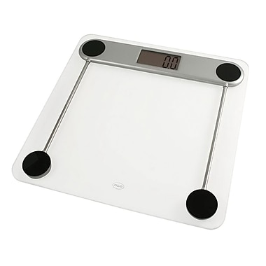 American Weigh Scales Low-Profile Digital Bathroom Scale, Clear/Silver (330LPG)