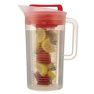 Primula® Shake and Infuse Pitcher, 3 qt, Red/Clear (TSIRE3630)