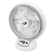 "Bionaire® 10"" Table Fan Circulator with Infinite Speed Control, White (BDF1011AGU)"