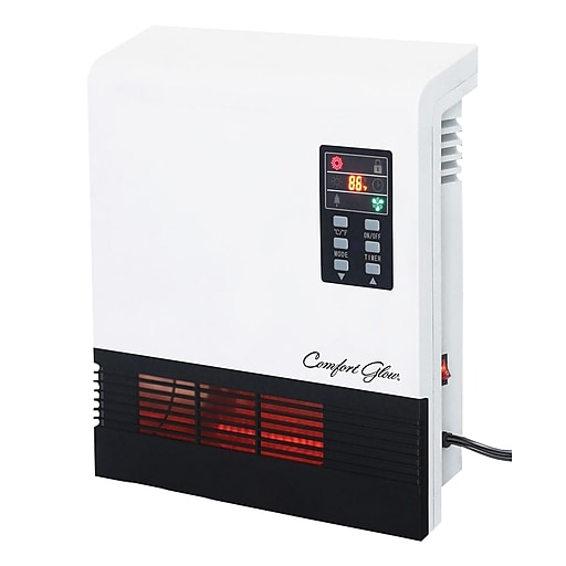 World Marketing Quartz Wall Mount Comfort Furnace with Remote Control, White/Black (QWH2100)