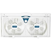 "Lasko® 8"" Electrically Reversible Twin Window Fan, White (2138)"