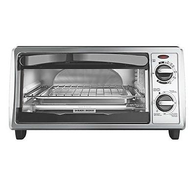 Black & Decker™ 4-Slice Countertop Convection Toaster Oven, Silver (TO1332SBD)
