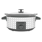 Black & Decker™ 7 qt Slow Cooker, White/Gray Geometric Print (SC1007D)