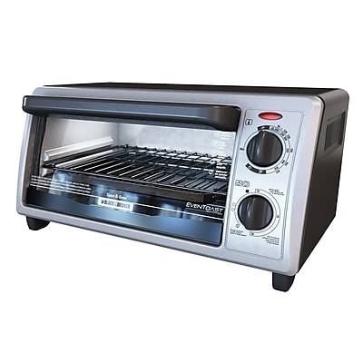 Black & Decker™ 4-Slice Countertop Toaster Oven, Silver (TO1322SBD)