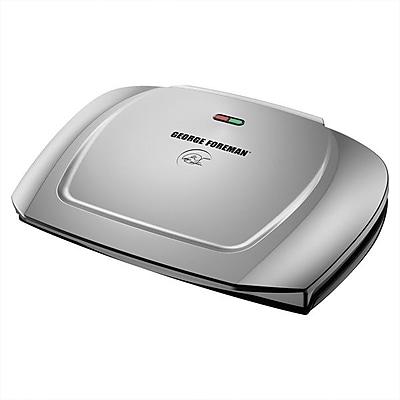 George Foreman® 9-Serving Basic Plate Grill, Platinum (GR2144P)