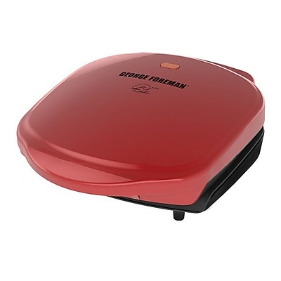 George Foreman® 2-Serving Basic Plate Grill, Red (GR10RM)