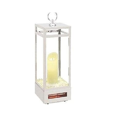Twin Stars LED Electric Candle Lantern Indoor Heater, White (10ILH12002)