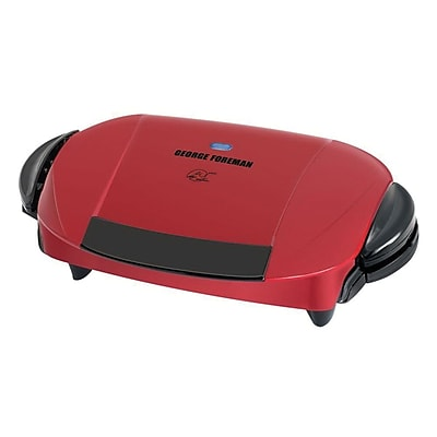 George Foreman® 5-Serving Removable Plate & Panini Grill, Red (GRP0004R)