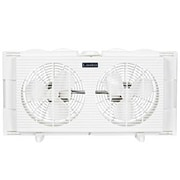 "Lasko® 7"" Wall Mountable Twin Window Fan, White (2137)"