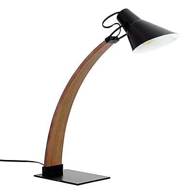 Lumisource Noah Table Lamp, Walnut and Black (LS-NOAH WL+BK)