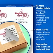 """Avery TrueBlock Laser Shipping Labels, Sure Feed Technology, 3 1/3"""" x 4"""" White, 600 Labels Per Pack (5164)"""