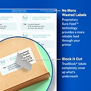 """Avery TrueBlock Inkjet Shipping Labels, Sure Feed Technology, 2"""" x 4"""", White, 250 Labels Per Pack (8163)"""