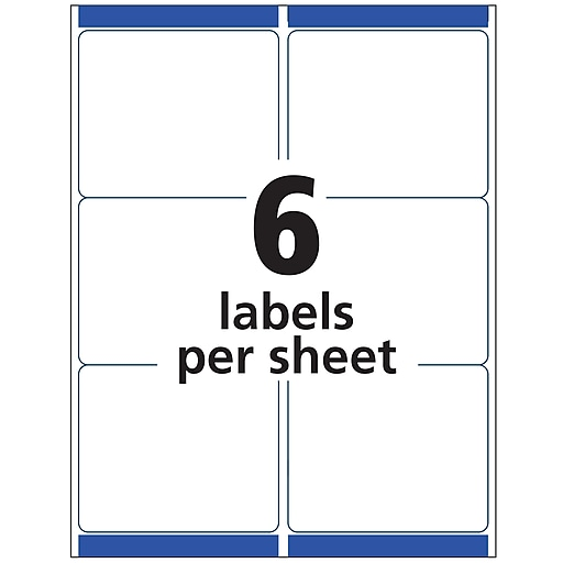 Avery TrueBlock Inkjet Shipping Labels, Sure Feed Technology, 3 1/3