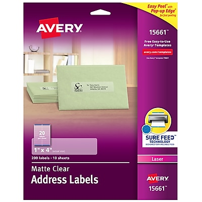 photograph about Printable Window Decal Paper Avery referred to as Avery Matte Very clear Protect Labels, Guaranteed Feed Technologies, Laser, 1\