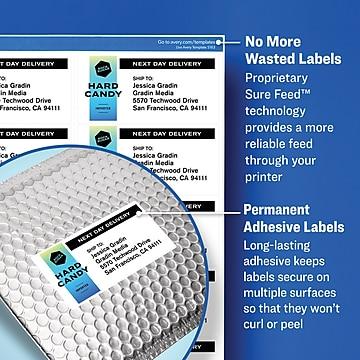 "Avery Laser/Inkjet File Folder Labels, 2/3"" x 3 7/16"", White, 750 Labels Per Pack (8366)"