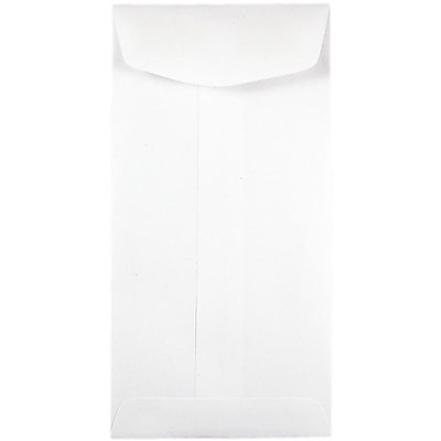 JAM Paper® #7 Coin Envelopes, 3.5 x 6.5, White, 50/Pack (95083c)