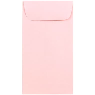 JAM Paper® #7 Coin Envelopes, 3.5 x 6.5, Baby Pink, 1000/carton (1526773B)