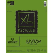 "Canson XL Recycled Sketch Paper Pad 11""X14""-100 Sheets"