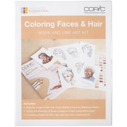 Copic Coloring Faces Book & Line Art Kit-