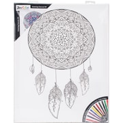 "Adult Coloring Canvas 16""X20"" W/12 Markers-Dreamcatcher"