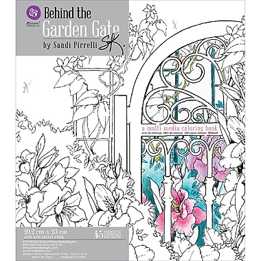 Prima Marketing Coloring Book-Behind The Garden Gate, 45 Sheets