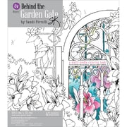 Prima Marketing Coloring Book Behind The Garden Gate 45 Sheets