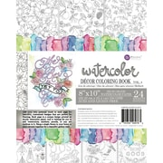 Prima Marketing Coloring Book-Vol. 4 Watercolor Decor, 24 Sheets