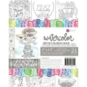 Prima Marketing Coloring Book-Vol. 3 Watercolor Decor Faith, 24 Sheets