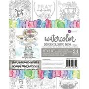 Prima Marketing Coloring Book-Vol. 3 Watercolor Decor Faith, 24 Sheets
